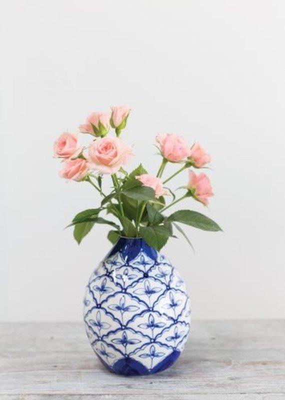 Eleanor Blue/White Budvase