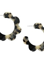 Scalloped Hoops Blonde