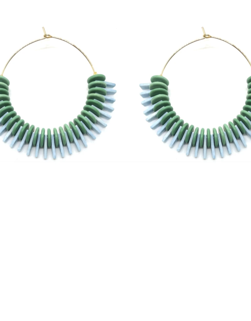 Ojai Hoops-Green and Blue