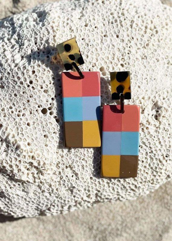 Colorful Plaid Cabana Earrings
