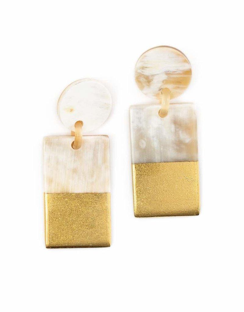 Gold Dipped Cabana Earrings