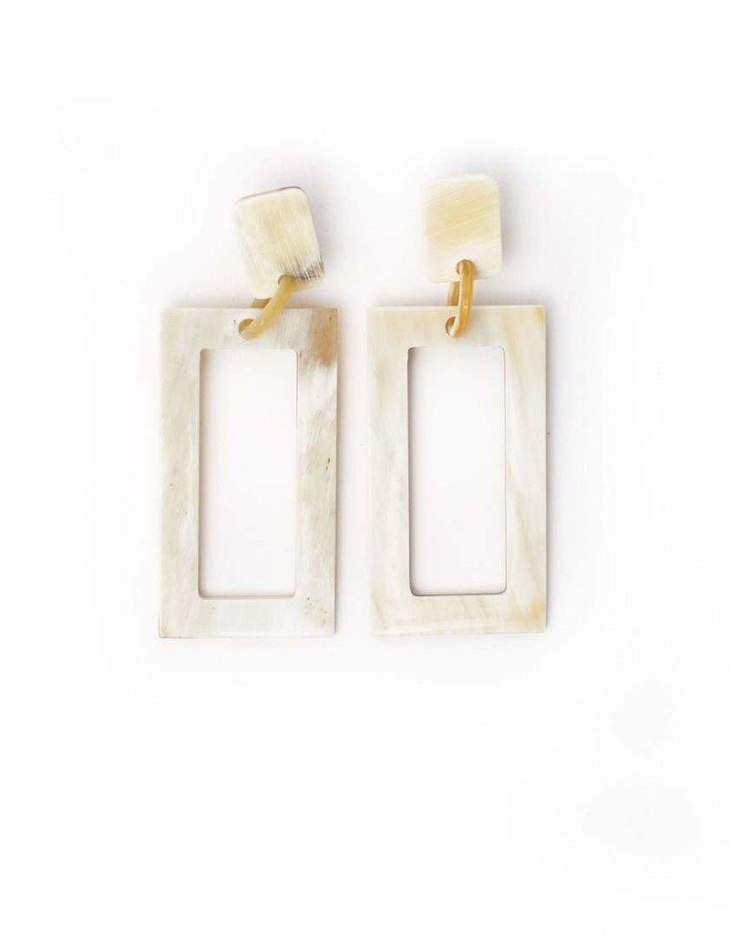 Horn Block Earring