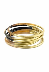 Shiny Gold Horn Bangle Set