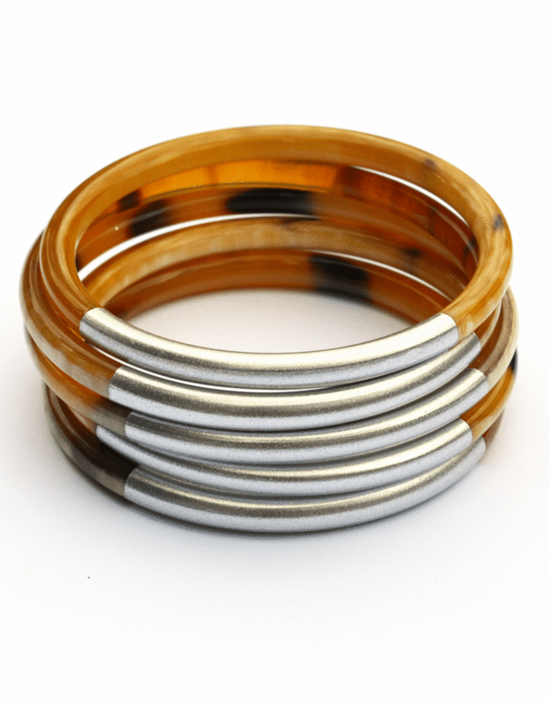 Silver Metallic Bangles