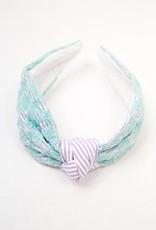 Embroidered Headband - Blue and Purple