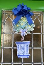 Lemon Topiary Door Hanger