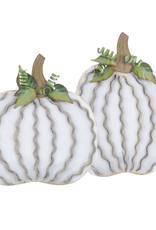 Cream Pumpkin Pair