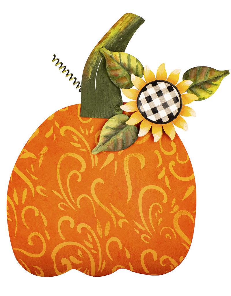 Buffalo Check Sunflower Pumpkin Medium
