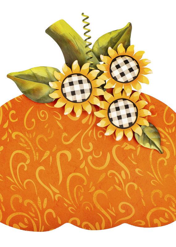 Buffalo Check Sunflower Pumpkin Large