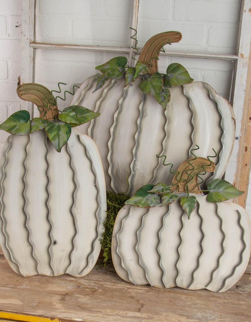 Cream Pumpkins Set of 3