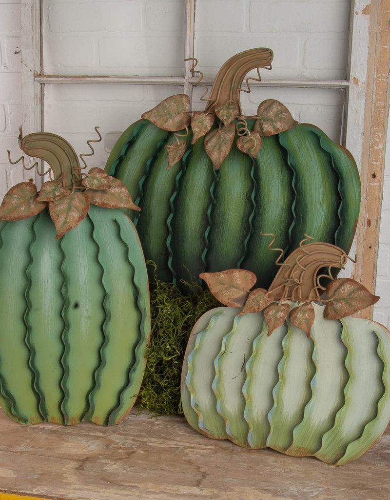 Green Pumpkins Set of 3