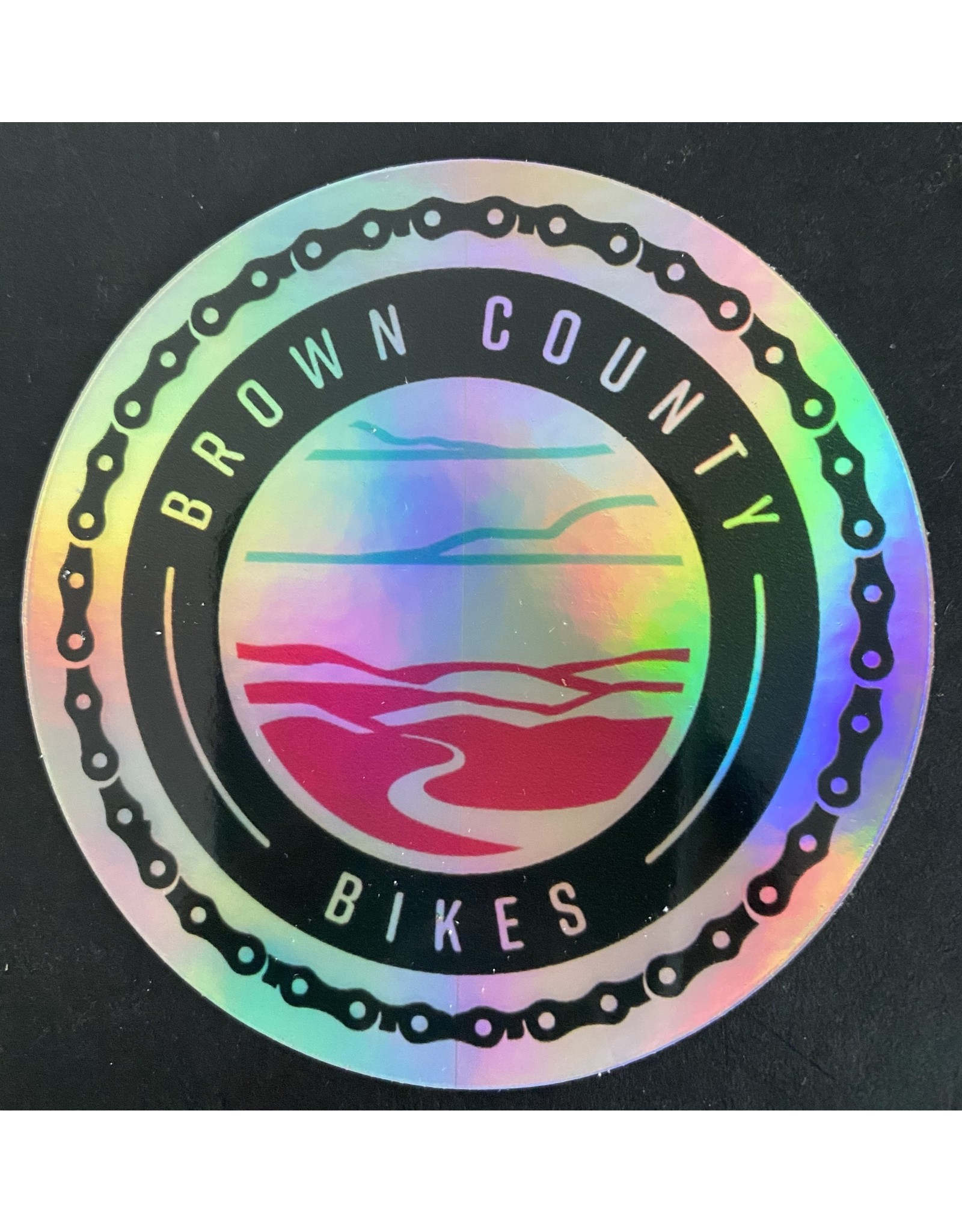 Custom Brown County Bikes Gear Brown County Bikes Hologram Sticker