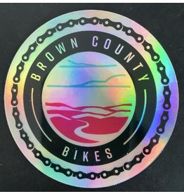 Custom Brown County Bikes Gear Brown County Bikes Hologram Sticker