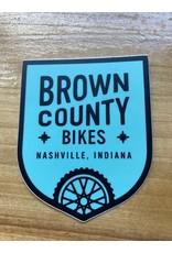 Brown County Bikes Shield Sticker