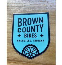 Brown County Bikes Shield Sticker