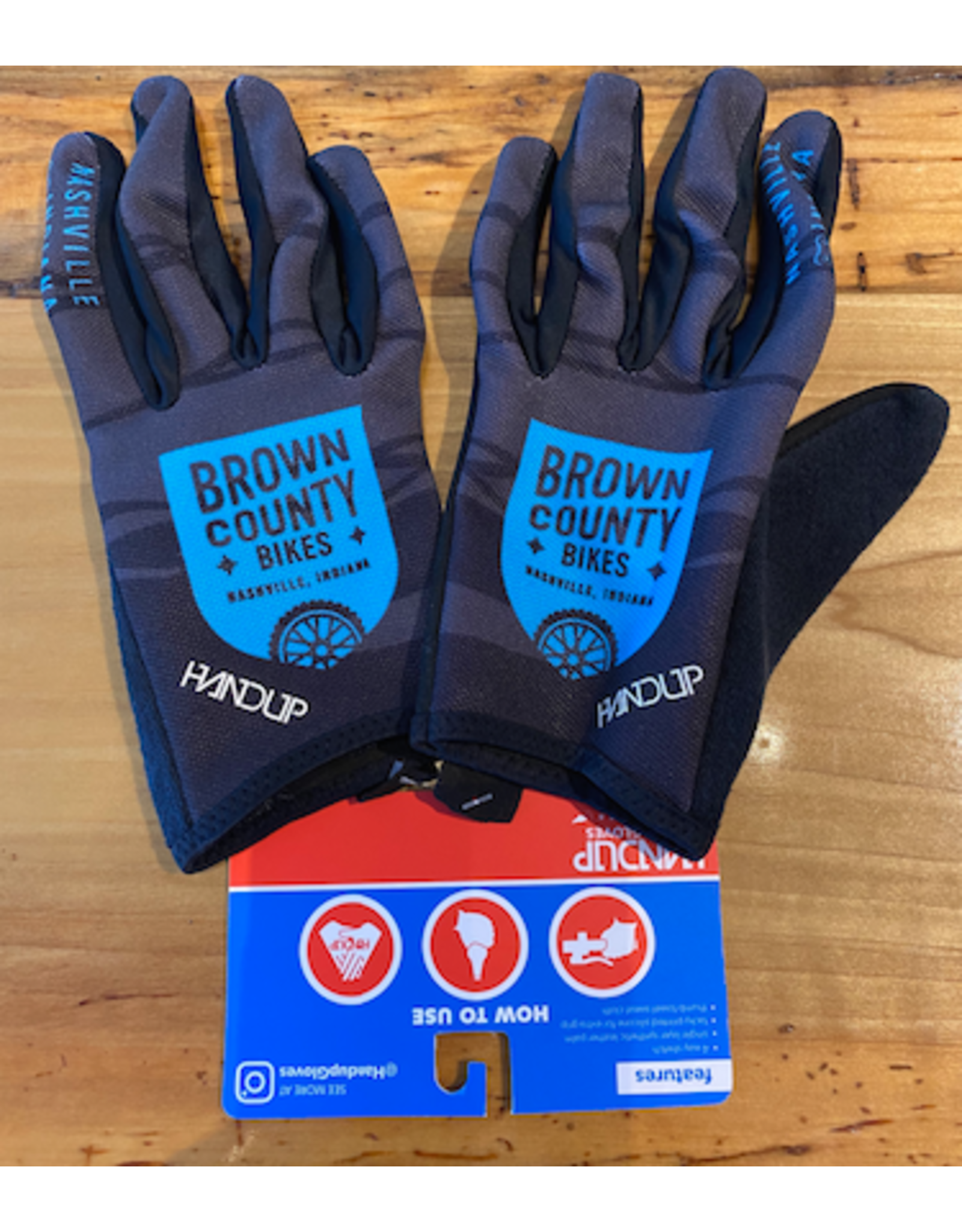 HandUP Brown County Bikes Gloves