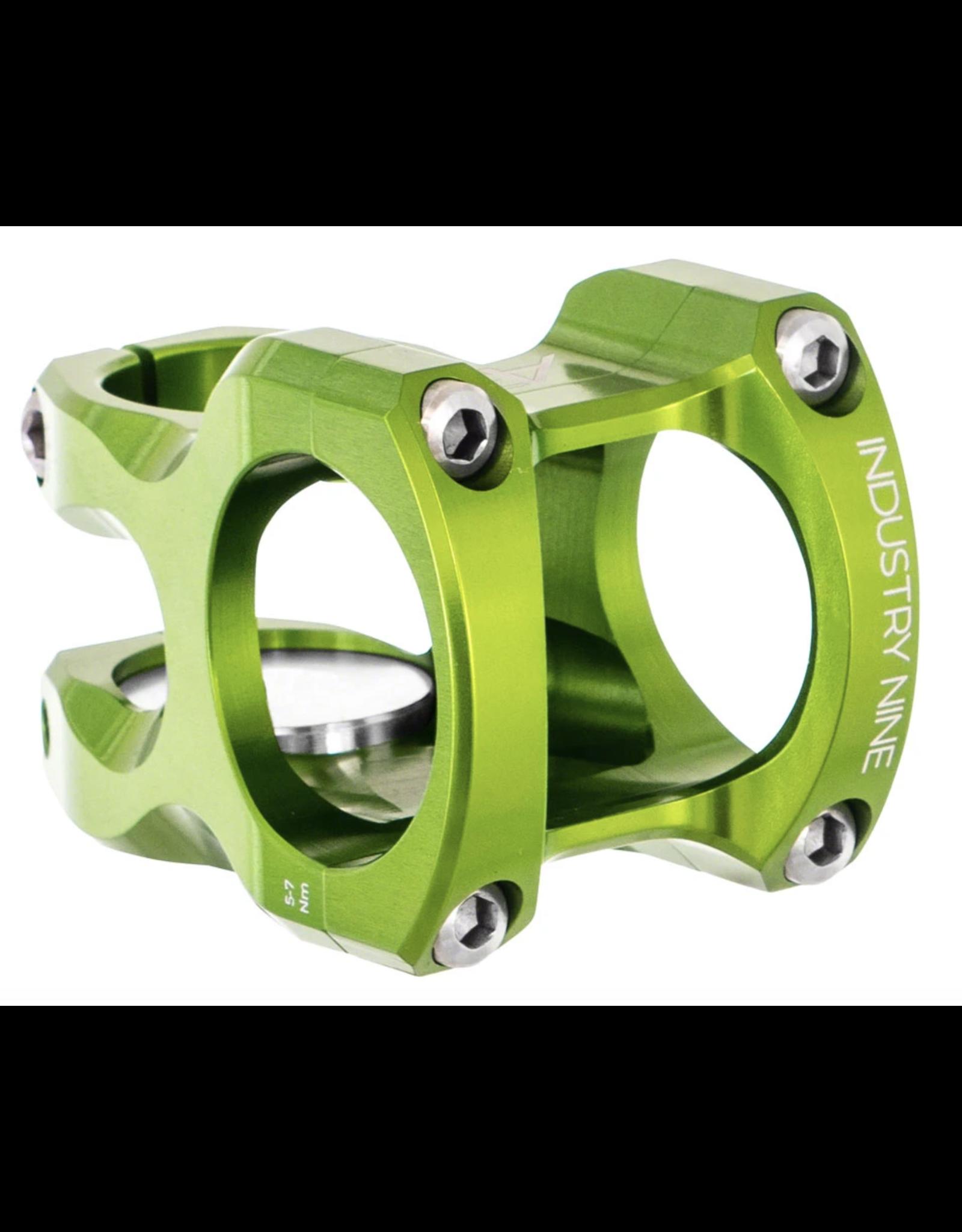 "Industry Nine Industry Nine A35 Stem - 32mm, 35 Clamp, +/-9, 1 1/8"", Aluminum, Lime"