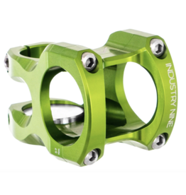 "Industry Nine Industry Nine A35 Stem - 32mm, 35 Clamp, +/-9, 1 1/8"", Aluminum, Lime"