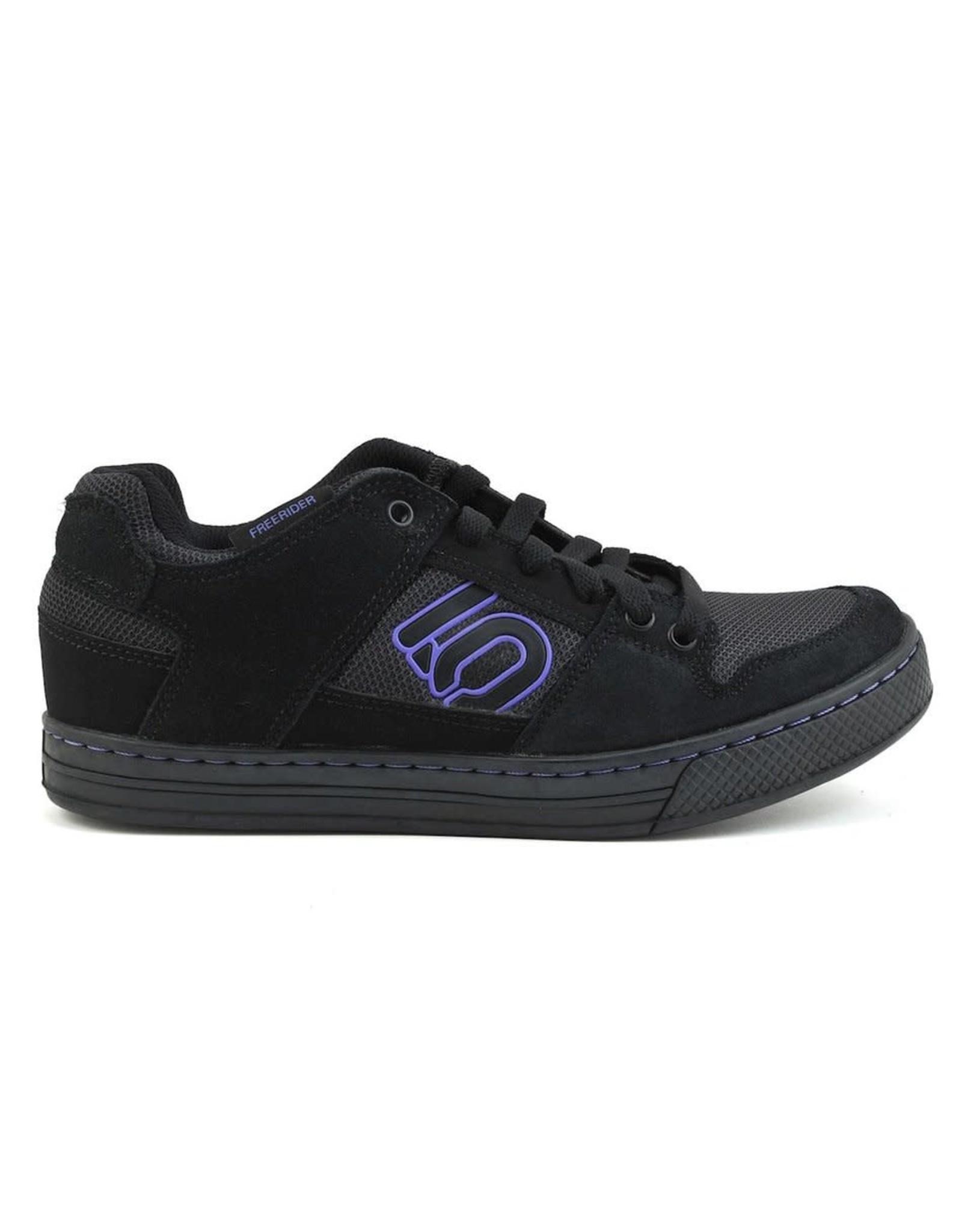 Five Ten Five Ten Freerider Women's Flat Pedal Shoe: Black/Purple 9