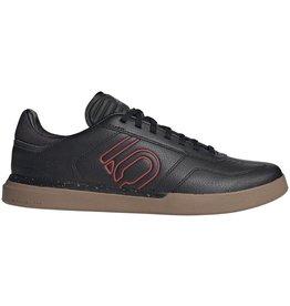 Five Ten Five Ten Sleuth DLX PU Men's Flat Shoe: Black/Scarlet/Gum 7.5