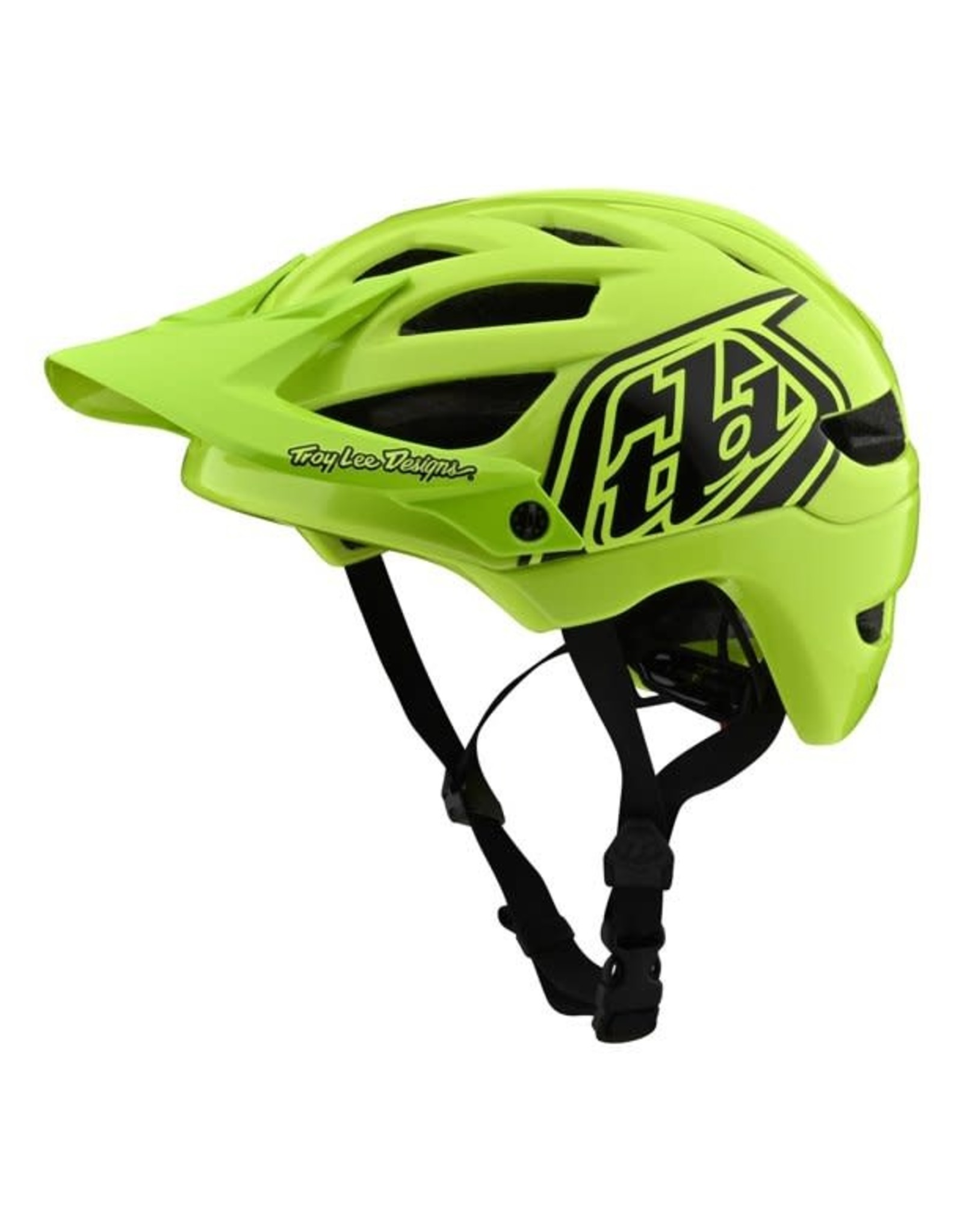 A1 HELMET; DRONE FLO YELLOW / BLACK YOUTH
