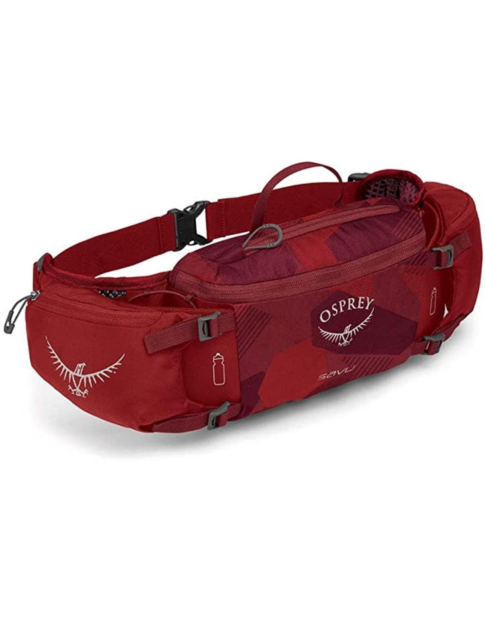 Osprey Osprey Savu Lumbar Bottle Pack: Molten Red, (Bottles Not Included)