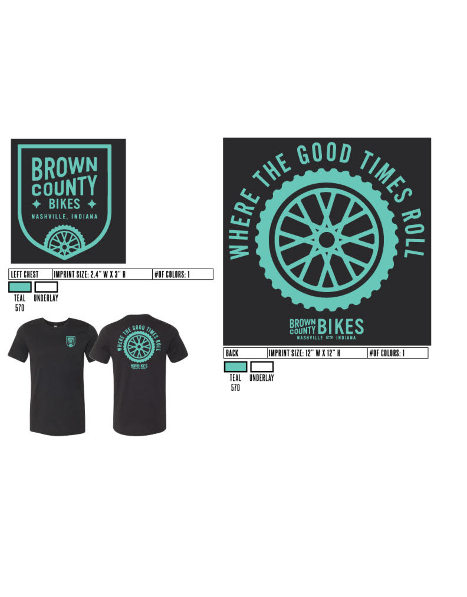 Custom Brown County Bikes Gear Brown County Bikes Black T-Shirt