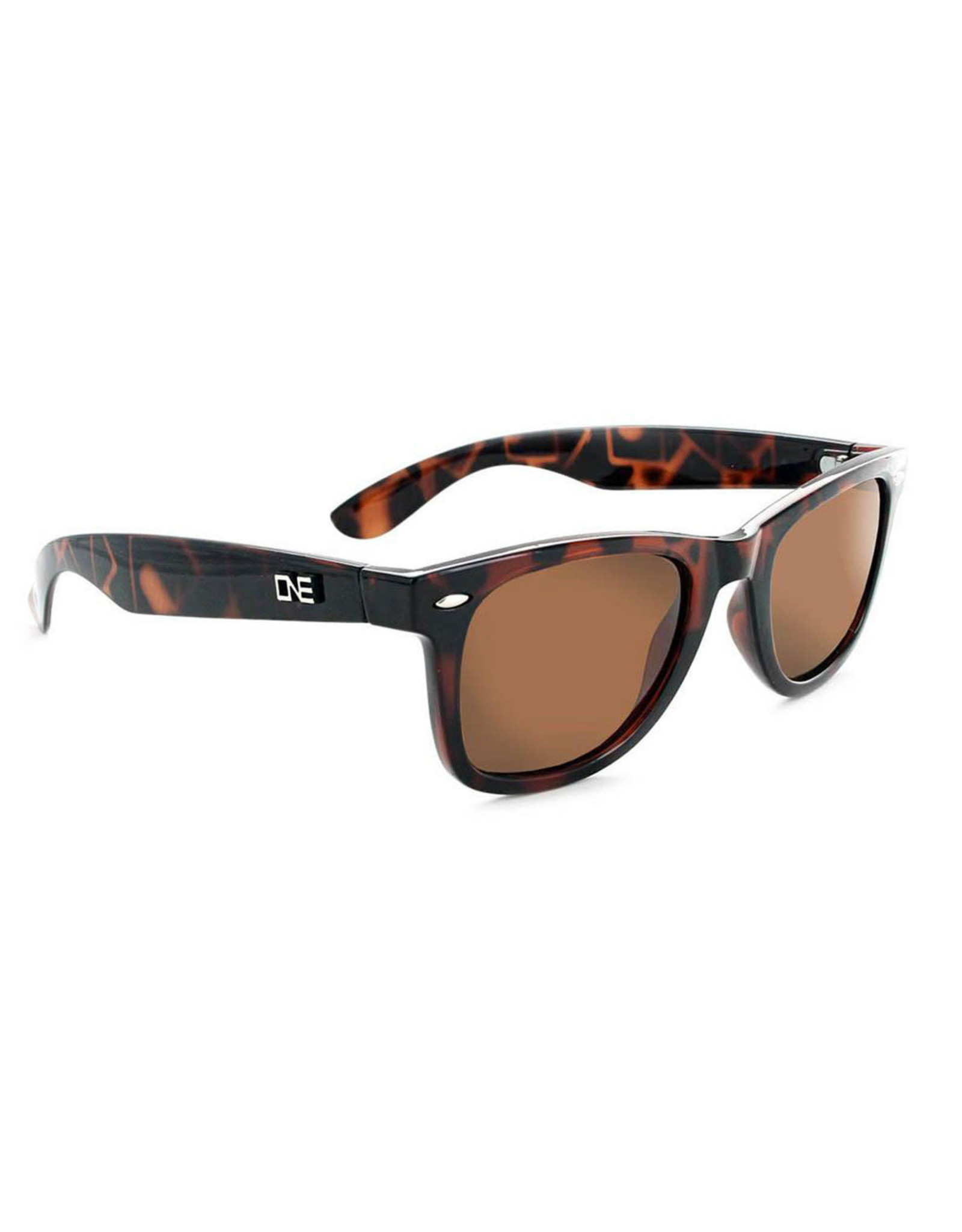Optic Nerve ONE Dylan Polarized Sunglasses: Shiny Dark Demi with Brown Lens