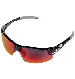 Tifosi Optics Crit, Race Silver Clarion Red/AC Red/Clear Glasses