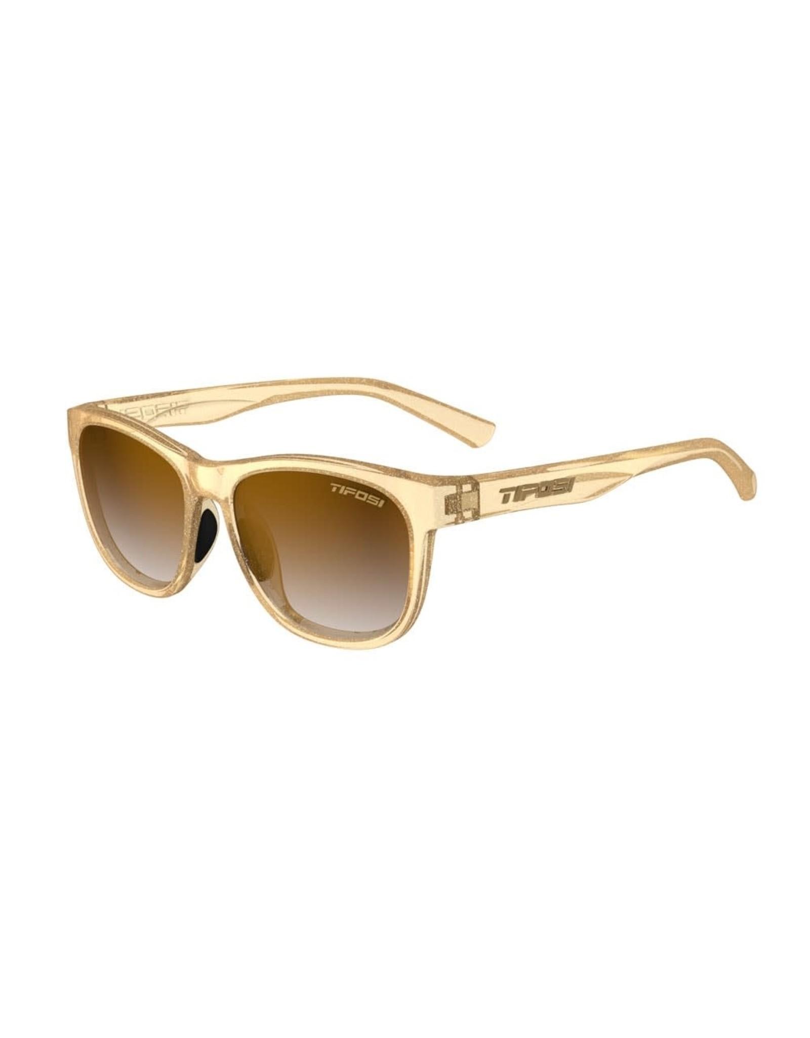 Tifosi Optics Swank Glitter, Gold Shine Brown Gradient Glasses