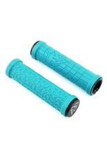 RaceFace RaceFace Getta Grips - Turquoise, Lock-On, 33mm