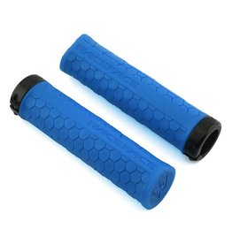 RaceFace RaceFace Getta Grips - Blue, Lock-On, 30mm