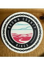 Brown County Bikes Circle Sticker