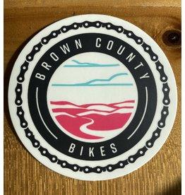 Brown County Bikes Circle Sticker