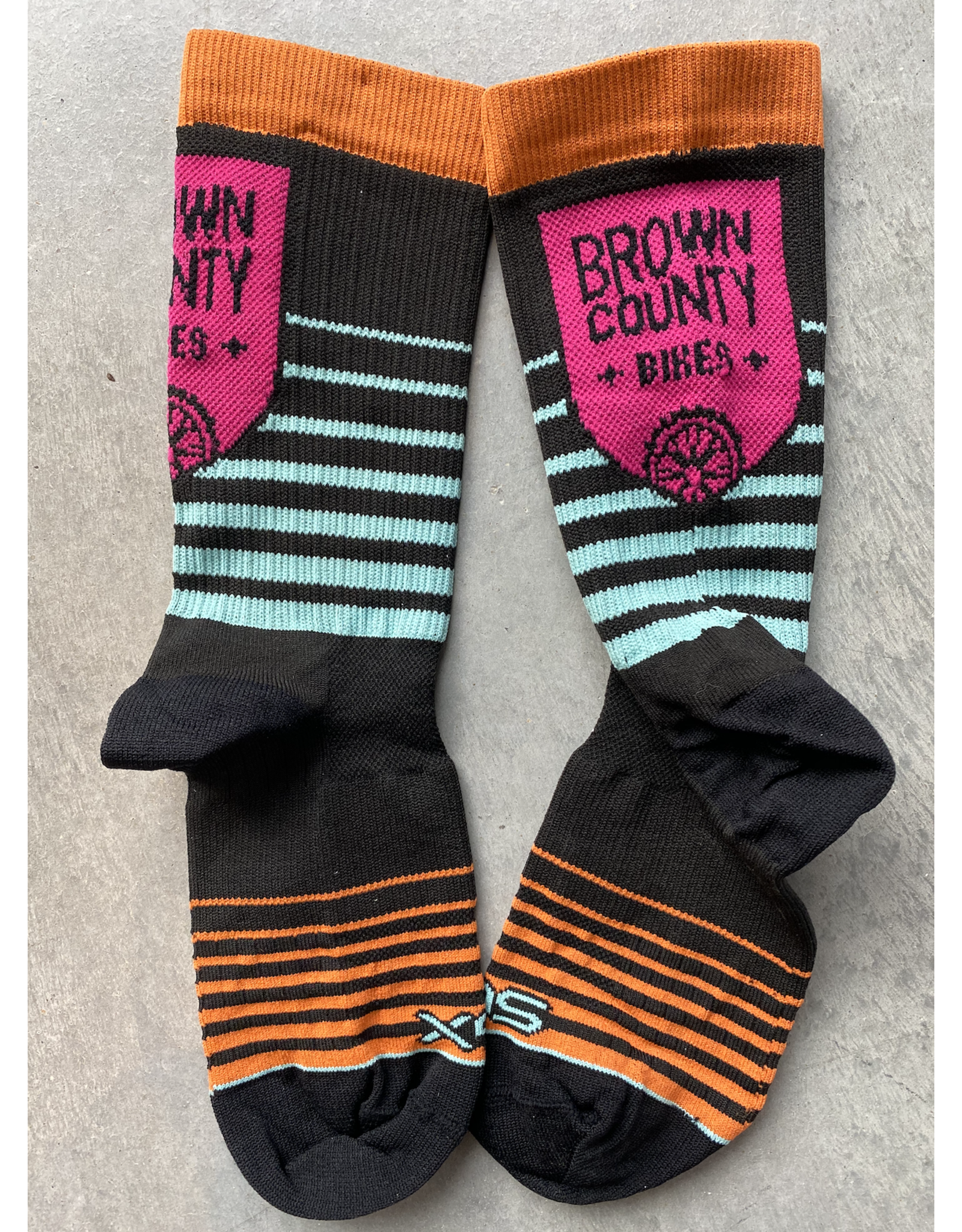 Sock Guy Brown County Bikes Socks SGX