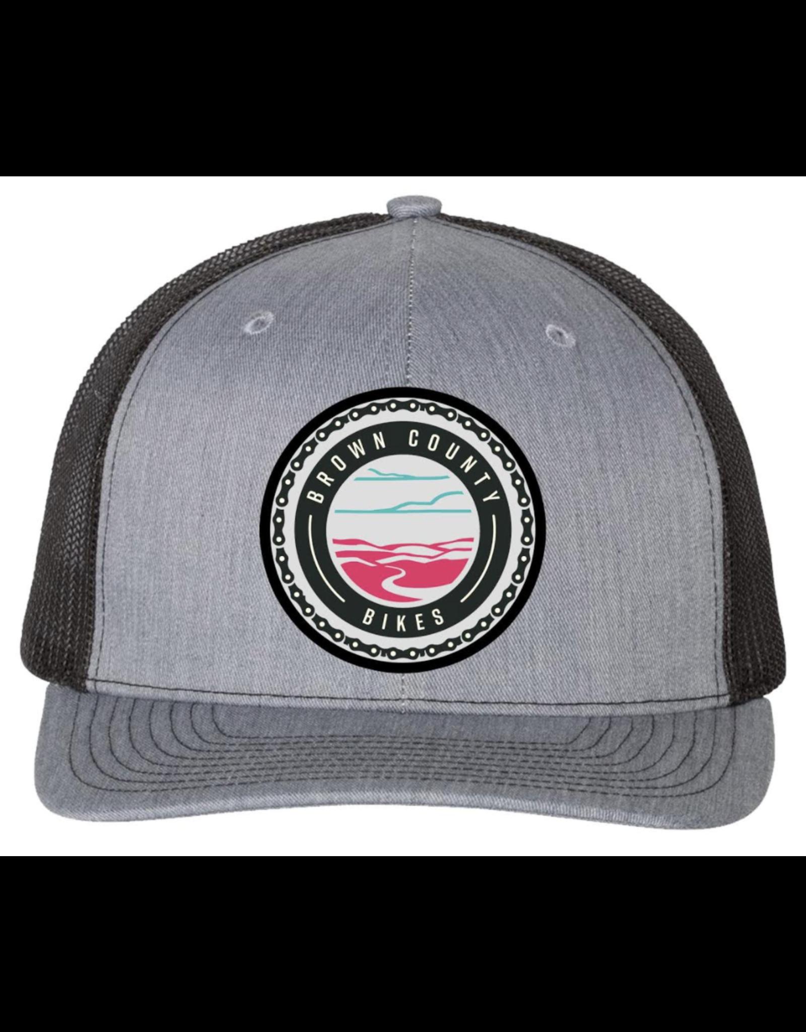 Brown County Bikes Trucker Hat Grey/Black