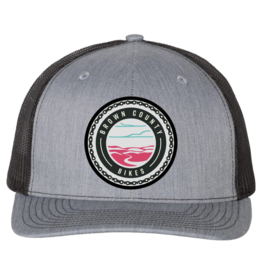 Brown County Bikes Trucker Hat Grey/Black