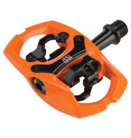"iSSi iSSi Trail II Pedals - Dual Sided Clipless, Aluminum, 9/16"", Hi-Vis Orange"