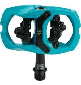"iSSi iSSi Trail III Pedals - Dual Sided Clipless with Platform, Aluminum, 9/16"", Teal"