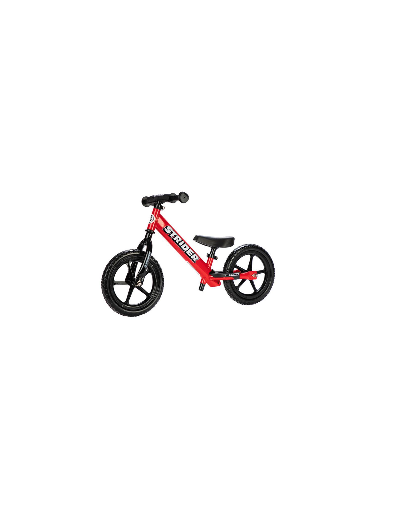 Strider Sports Strider 12 Sport Kids Balance Bike: Red