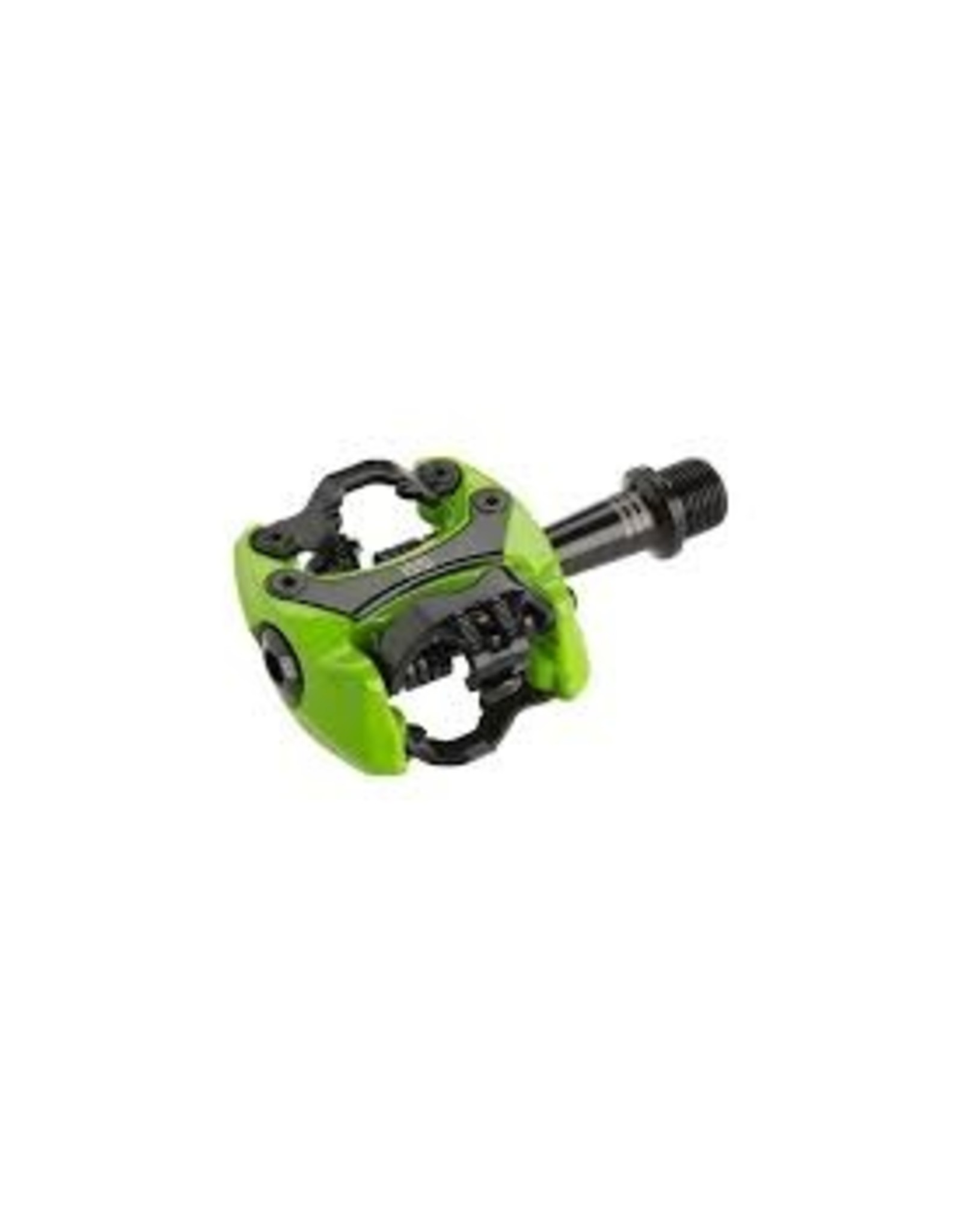 """iSSi iSSi Flash III Pedals - Dual Sided Clipless, Aluminum, 9/16"""", Lime Green"""