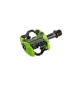"iSSi iSSi Flash III Pedals - Dual Sided Clipless, Aluminum, 9/16"", Lime Green"