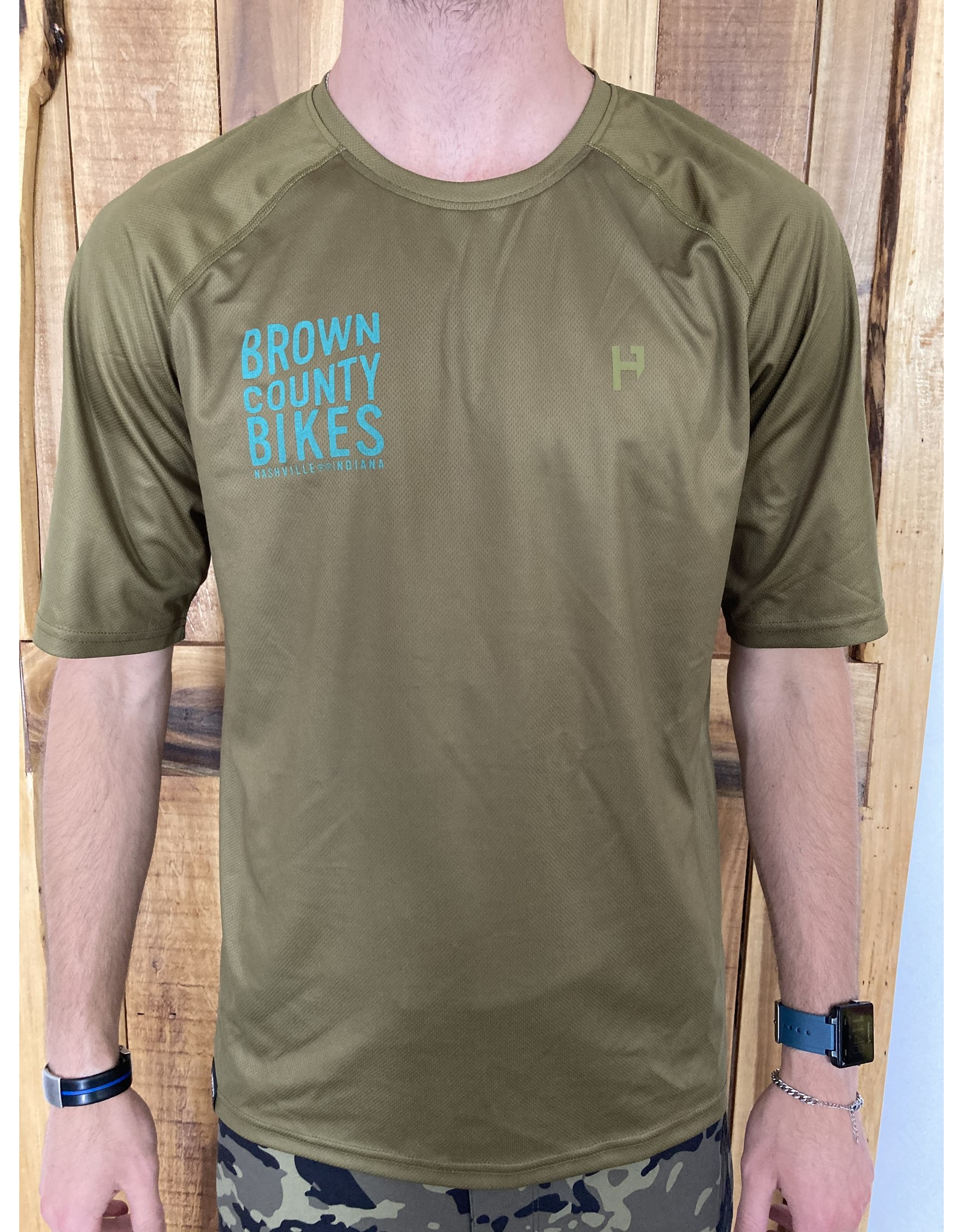 Brown County Bikes Jersey Moss