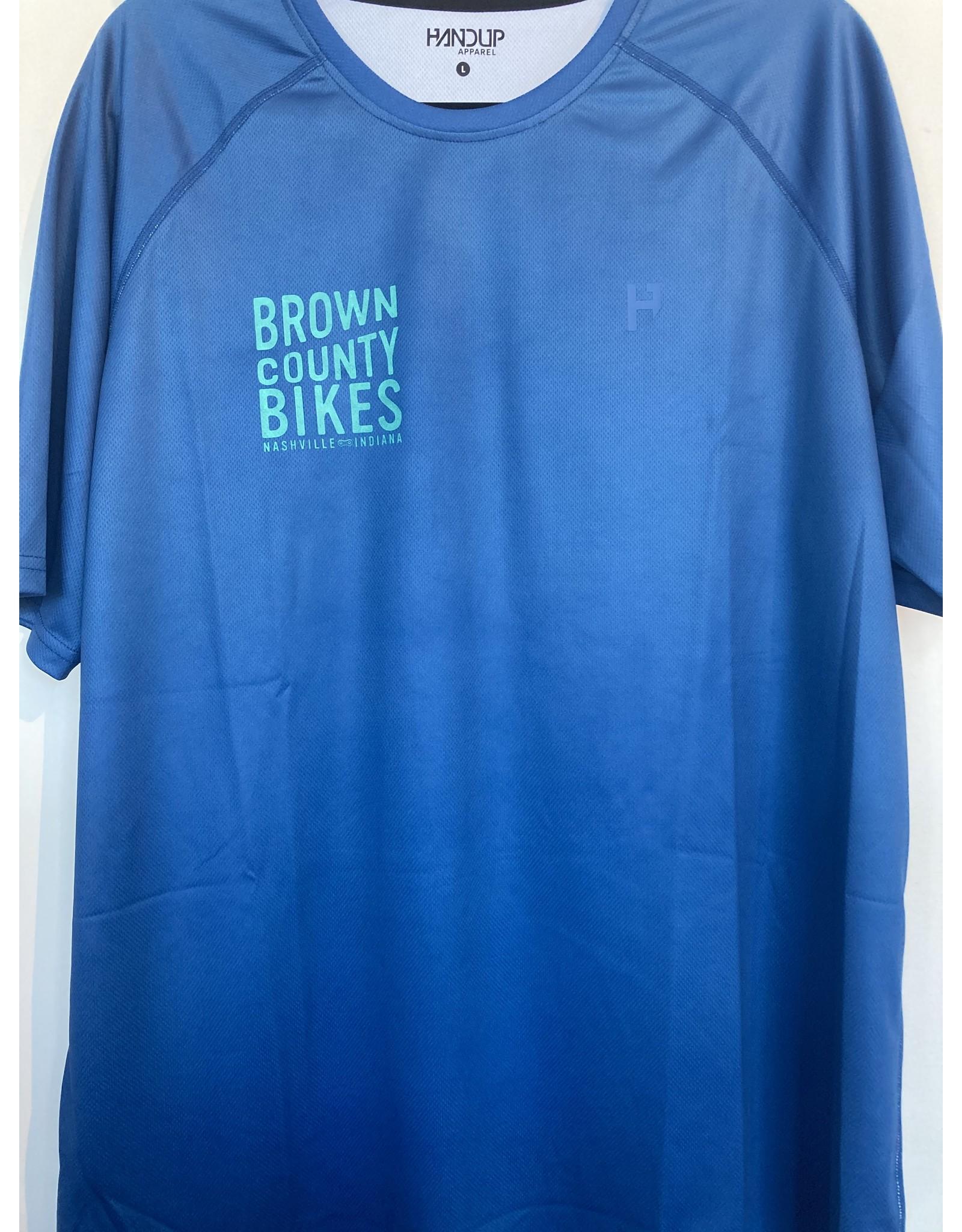 HandUP Brown County Bikes Jersey Cobalt Blue Large