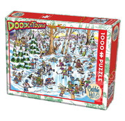 Cobble Hill Puzzles Cobble Hill Doodletown Hockey Town Puzzle 1000pcs