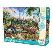 Cobble Hill Puzzles Cobble Hill Prehistoric Party Family Puzzle 350pcs