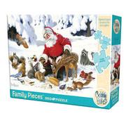 Cobble Hill Puzzles Cobble Hill Santa Claus and Friends Family Puzzle 350pcs