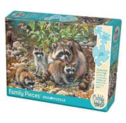 Cobble Hill Puzzles Cobble Hill Raccoon Family Family Puzzle 350pcs
