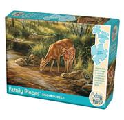 Cobble Hill Puzzles Cobble Hill Deer Family Family Puzzle 350pcs