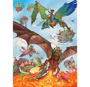 Cobble Hill Puzzles Cobble Hill Dragon Flight Family Puzzle 350pcs